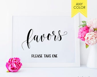 Wedding Favors Sign Signage Reception Please Take Baby Shower Favor Ideas