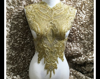 Full Body Gold Rhinestone Applique #0527