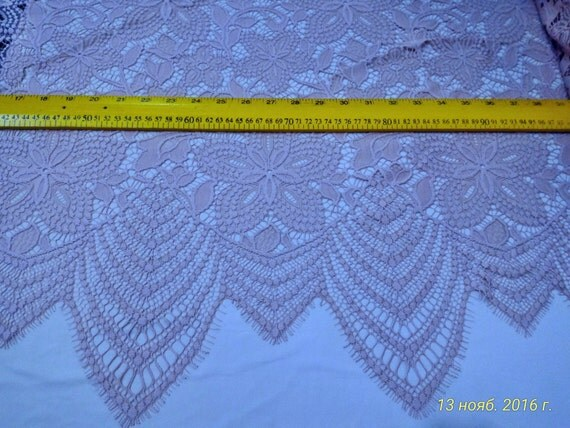 Gently pink lace fabric nude - French style, excellent whipped lace fabric from France