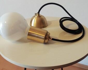 Brass Pendant Light  Modern Hanging Light  Scandinavian