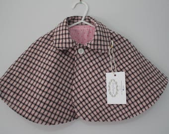 Pink Wool Capelet