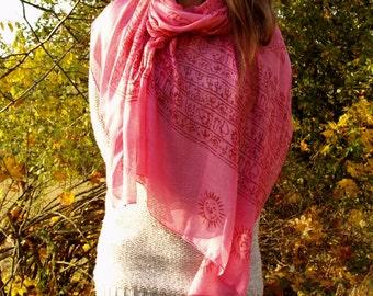 Prayer scarf, thin cotton shawl, meditation scarf, indian scarf