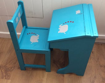 SOLD. *. *. * Child's DESK and CHAIR set