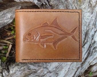 Men's Carved Leather Wallet