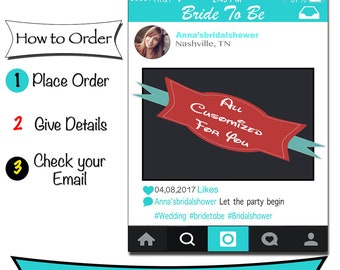Digital File: Bridal Shower Frame Photo Booth Prop. Instagram Design, Personalised Frames, Instagram Photo Prop