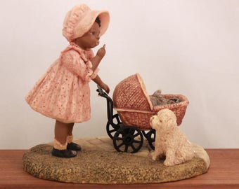 "Miss Martha's Collection by Enesco. Tonya. ""Hush, Puppy Dear"" in Original Box with Certification. 443255"