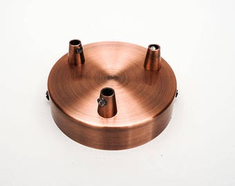 Rose copper steel outputs 3 - with cable clamp