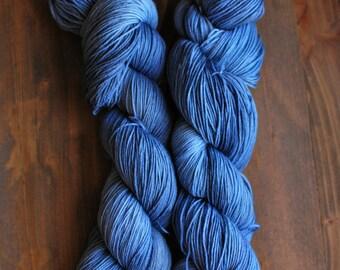 Winter Blues, Hand Dyed Yarn, SW Sock