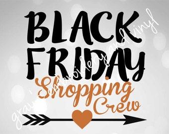 black friday shopping crew svg dxf