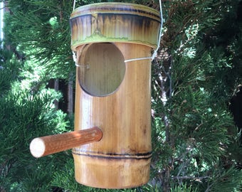 Bamboo bird feeder or bird house
