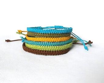 Custom color mens bracelet adjustable bracelet gays bracelet macrame cord bracelet hippie bracelet friendship bracelet surfer bracelet guy