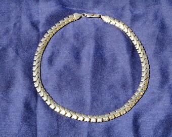 Vintage silver Necklace in metal / Original / Chic / Elegant / 1980 / 1990 / 80's / 90's / 80 / 90