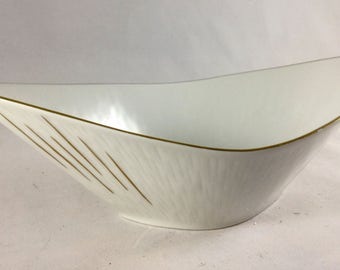 Rosenthal Kronach-Germany Inka Dish - 1940s Rosenthal Porcelain Bowl 3306 - Midcentury Modern White Porcelain bowl made in Germany