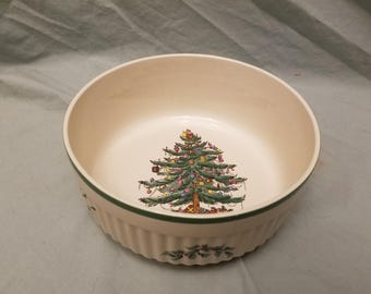 """Spode S3324 Christmas Tree 9"""" casserole Baking dish imperial cookware"""