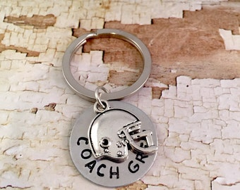 Football Coach Gift, Soccer Coach Keyring, football Team Keychain, Team Backpack Keyring, football Mom keychain, Team Dad gift, Team Gifts