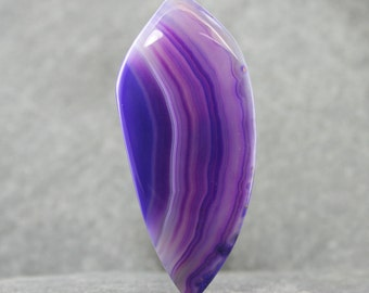 Purple Agate Gemstone Cabochon, Beautiful Unusual Lapidary Cabochon, Freeform Color Embellished Agate Stone, Designer Jewelry Focal Gemstone