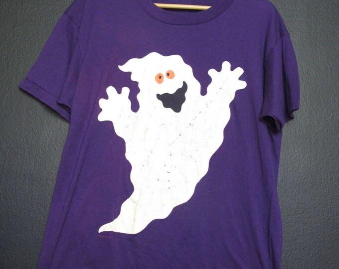 Halloween Ghost 1990s Vintage Tshirt