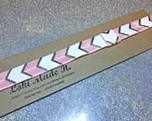 Planner Band Pastel pink/Silver Chevron- you choose size.