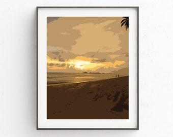 Ocean Coastal Art | Beach Print Decor | Bathroom Beach Decor
