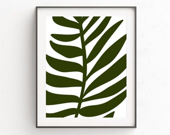 Palm Leaf Poster | Wall Art Prints | Palm Print | Palm Leaf | Wall Decor | Tropical Print | Tropical Decor Print | Jungalow | Instant Print
