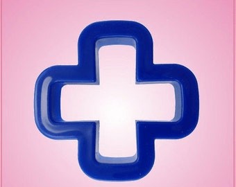Blue Plus Sign Cookie Cutter