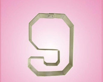 Varsity Number 9 Cookie Cutter