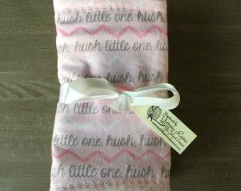Flannel Baby Burp Cloths-set of 3-Girls chevron, fox, polka dot