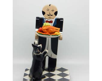 Waiter and Cat - Handcrafted