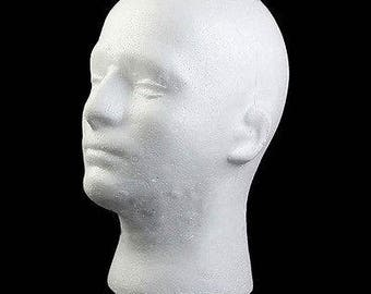 Male Mannequin Head Styrofoam