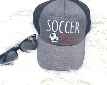 Soccer mom, Soccer mama, soccer mom, soccer mom, women's ball cap, women's hat, sports mom, soccer coach, gift for mom, cute hat, summer