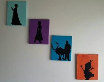 Frozen Inspired Minimalist Canvas Art