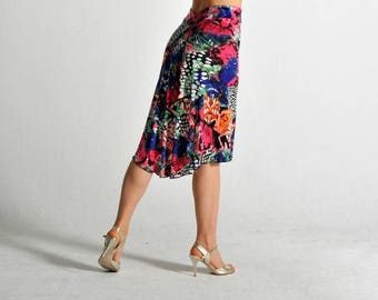 BELLA Tango skirt in summer print - sizes XS/S/M