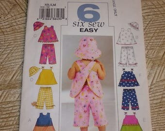 Butterick 3846 Baby Toddler Summer Wardrobe Sizes NB-M (8-21 lbs) Uncut