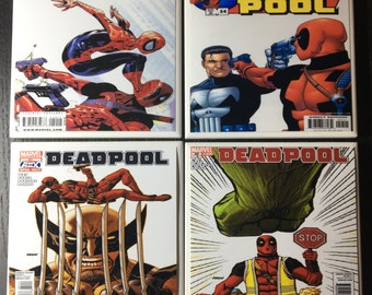 Deadpool and Friends Drink Coasters | Comic Book Cover Collection | Set of 4