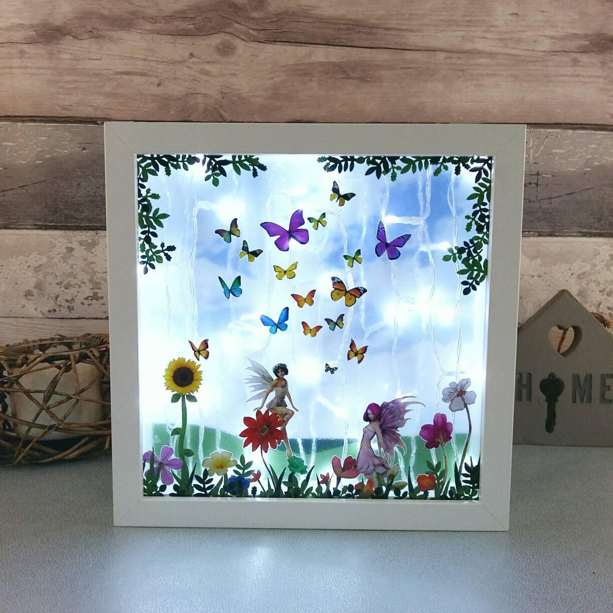 Butterfly Fairy Night Light Kids Room Lighting Unique Decor
