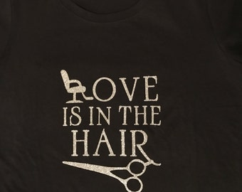 Love Is In The Hair Fitted Tee