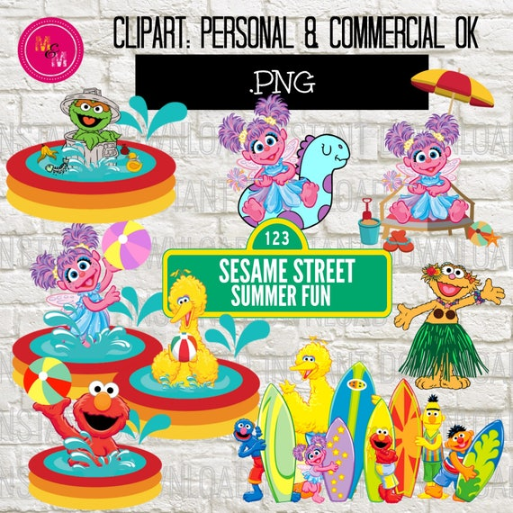 Sesame Street Summer Clipart Sesame Street Swim Clipart