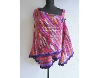 PATR1107 Xyra Crochet-pattern - Asymmetrical shawl/wrap - (Dutch & English-US)