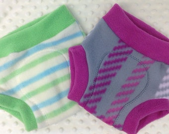 Cloth Diaper Cover - Fleece Soaker - Stripes or Plaid