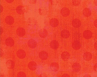 Moda Grunge Hits the Spot Quilt Fabric 1/2 Yard By Basic Grey Tangerine 30149 19