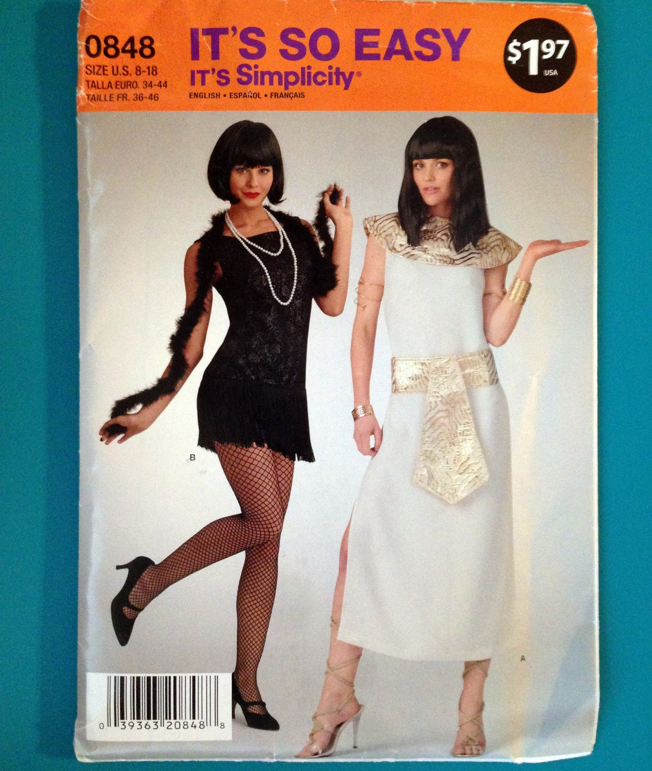 Simplicity 0848 Costume Pattern Flapper Egyptian