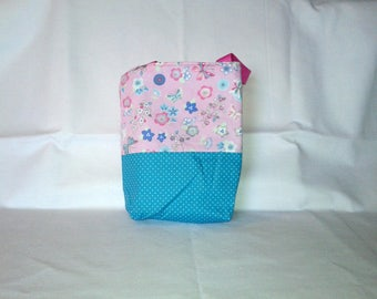 Kids / girls bag with flowers and butterflies