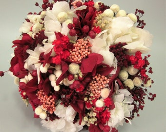 Wedding bouquet red and white
