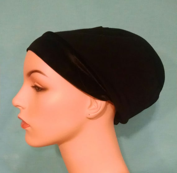 classic volumizer, non slip headband, velcro closure, stuffing is removable, black