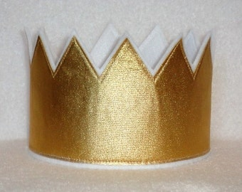 Gold Crown, Gold Birthday Crown, Gold Head Piece, Birthday Party Hat, Kids Crowns, Adult Crowns, Adult Party Crown, King Crown