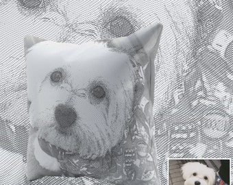 Ultimate Pet Photo Pillow; Customized Pet Photo Pillow; Stylish Graphic Pillow from Your Pet Photo (Zoom on Each Image for full effect)