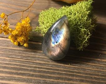 Labradorite Water Droplet Ring