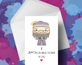 Harry Potter - Albus Dumbledore Inspired Card