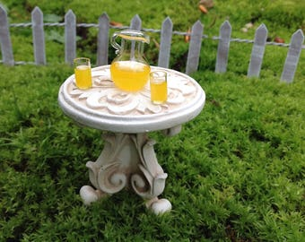 Fairy garden miniature table and chairs accessory