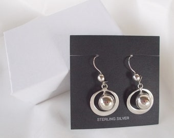 925 Silver Vintage Drop Dangle Earrings